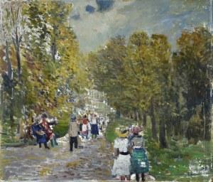 Tadeusz ROMAN (1906-1983), Scena w parku, 1962