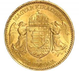 Franz Joseph I, 20 Kronen 1897 KB