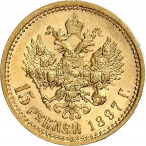 Nikolaus II, 15 Rubel 1897
