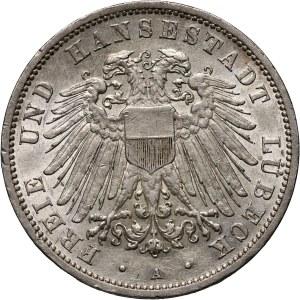 Niemcy, Lubeka, 3 marki 1912 A