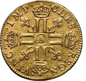 Francja, Ludwik XIII, 1/2 Louis d'or 1641 A, Paryż