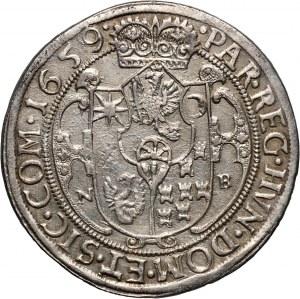 Węgry, Siedmiogród, Jerzy II Rakoczy, talar 1659 NB, Nagybanya