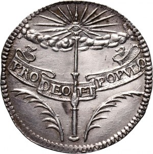 Austria, Ferdynand IV, srebrny żeton koronacyjny 1653