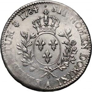 France, Louis XVI, Écu 1784 A, Paris