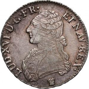 France, Louis XVI, Écu 1791 I, Limoges