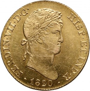 Spain, Ferdinand VII, 4 Escudos 1820, Madrid