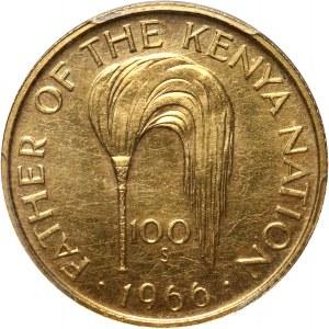 Kenia, 100 szylingów 1966, 75. urodziny Prezydenta Jomo Kenyatty.