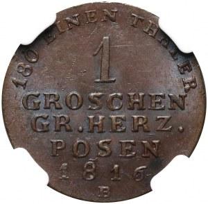 Wielkie Księstwo Poznańskie, 1 grosz 1816 B, Wrocław