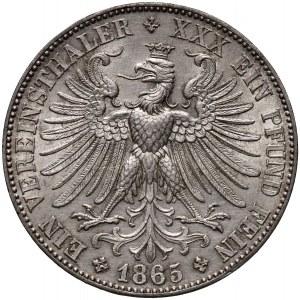Niemcy, Frankfurt, talar 1865