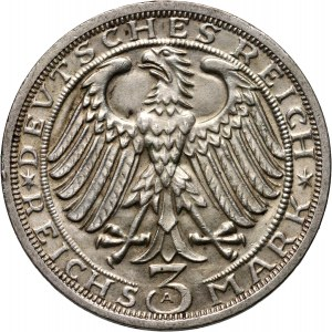 Niemcy, Republika Weimarska, 3 marki 1928 A, Berlin, Naumburg