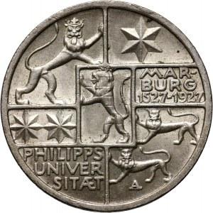 Niemcy, Republika Weimarska, 3 marki 1927 A, Berlin, Marburg