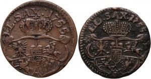 August III, grosz 1755, zestaw dwóch odmian