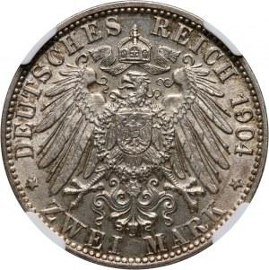 Niemcy, Brema, 2 marki 1904 J, Hamburg