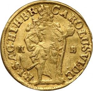 Węgry, Karol VI, dukat 1717 KB, Kremnica
