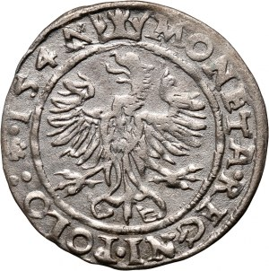 Zygmunt I Stary, grosz 1547, Kraków, leżąca cyfra 7 w dacie