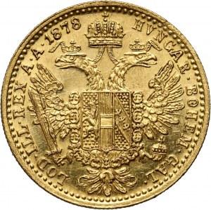 Austria, Franz Joseph I, Ducat 1878, Vienna