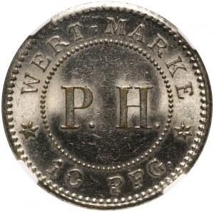 Chiny, Kiau Chau, 10 fenigów bez daty (1914)