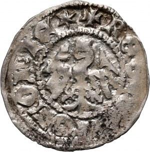 Władysław Jagiełło 1386-1434, półgrosz, Kraków, sygnatura +