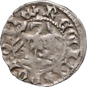 Władysław Jagiełło 1386-1434, półgrosz, Kraków, litery AS