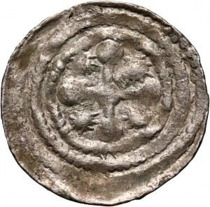 Bolesław III Krzywousty 1107-1138, denar, walka rycerza ze smokiem