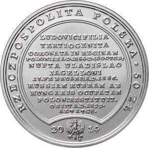 III RP, Skarby Stanisława Augusta, 50 złotych 2014, Jadwiga Andegaweńska