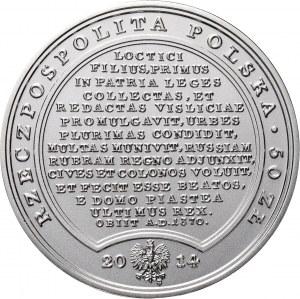 III RP, Skarby Stanisława Augusta, 50 złotych 2014, Kazimierz Wielki