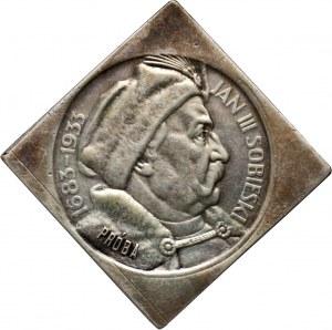 II RP, 10 złotych 1933, Warszawa, Jan III Sobieski, PRÓBA, klipa