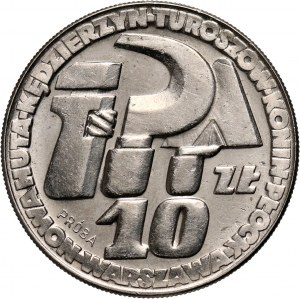 PRL, 10 złotych 1964, Klucz, sierp i kielnia, PRÓBA, nikiel