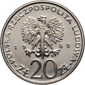 PRL, 20 złotych 1980, Walki barykadowe, PRÓBA, nikiel
