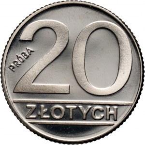 PRL, 20 złotych 1989, PRÓBA, nikiel