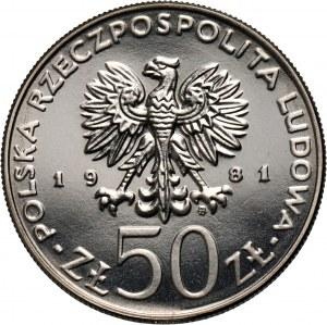 PRL, 50 złotych 1981, Władysław I Herman, PRÓBA, nikiel