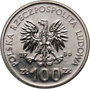PRL, 100 złotych 1986, Władysław I Łokietek, PRÓBA, nikiel