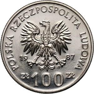 PRL, 100 złotych 1986, Kazimierz III Wielki, PRÓBA, nikiel