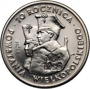 PRL, 100 złotych 1988, 70. rocznica Powstania Wielkopolskiego, PRÓBA, nikiel