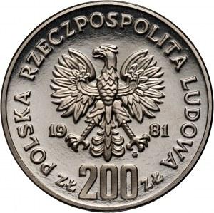 PRL, 200 złotych 1981, Władysław I Herman, PRÓBA, nikiel