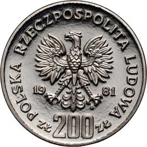 PRL, 200 złotych 1981, Władysław I Herman półpostać, PRÓBA, nikiel