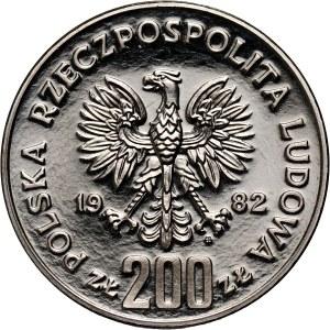 PRL, 200 złotych 1982, Bolesław III Krzywousty, PRÓBA, nikiel