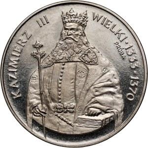 PRL, 1000 złotych 1987, Kazimierz III Wielki, PRÓBA, nikiel