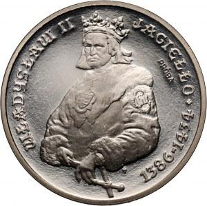 PRL, 5000 złotych 1989, Władysław II Jagiełło półpostać, PRÓBA, nikiel