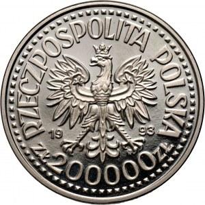 III RP, 200000 złotych 1993, Kazimierz IV Jagiellończyk, PRÓBA, nikiel