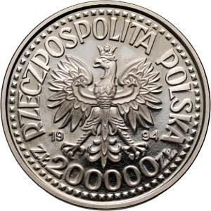 III RP, 200000 złotych 1994, Zygmunt I Stary, PRÓBA, nikiel
