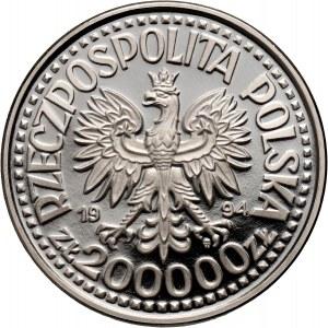 III RP, 200000 złotych 1994, Zygmunt I Stary półpostać, PRÓBA, nikiel
