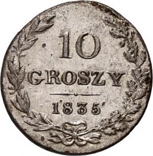 Zabór rosyjski, Mikołaj I, 10 groszy 1835 MW, Warszawa