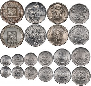 PRL, zestaw monet w pudełku prezentowym NBP