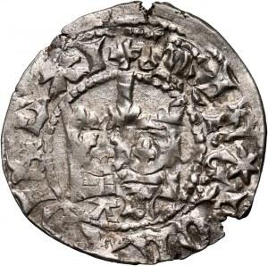 Władysław Jagiełło 1386-1434, półgrosz, Kraków, sygnatura AS
