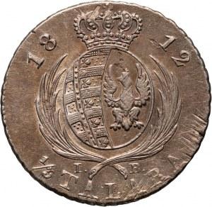 Księstwo Warszawskie, Fryderyk August I, 1/3 talara (2 złote) 1812 IB, Warszawa
