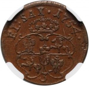 August III, grosz 1754, Grünthal