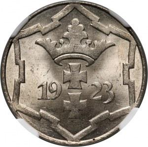 Wolne Miasto Gdańsk, 10 fenigów 1923, Berlin
