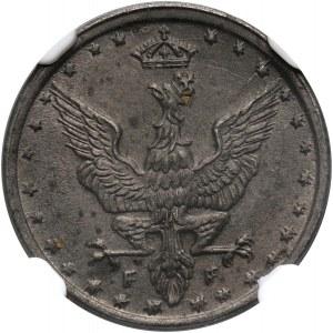 Królestwo Polskie, 5 fenigów 1918, Stuttgart