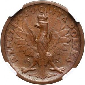 II RP, 50 złotych 1924, Klęczący Rycerz, Warszawa, PRÓBA, Miedź